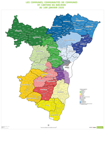 carte des cantons 2020 CARTE   Communes Cantons, Communautés de communes et Territoire d